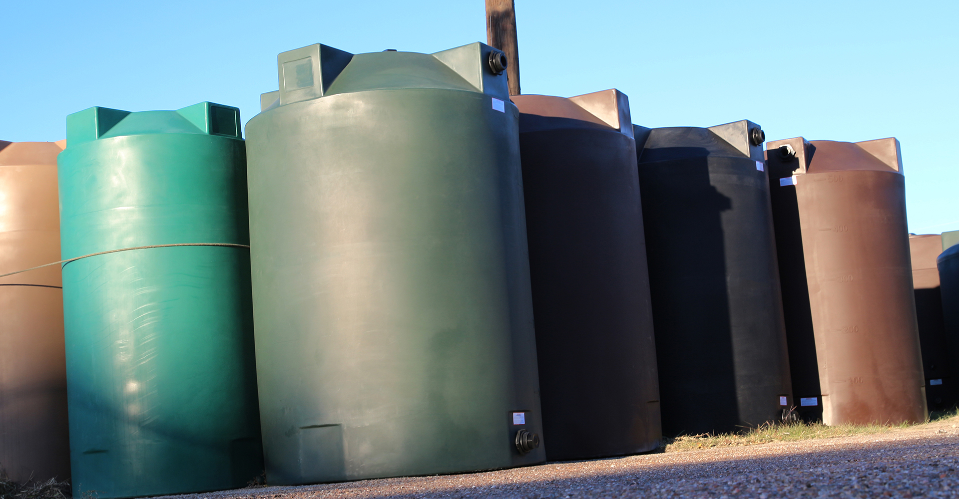 rain harvesting tanks, water storage tanks, and more!