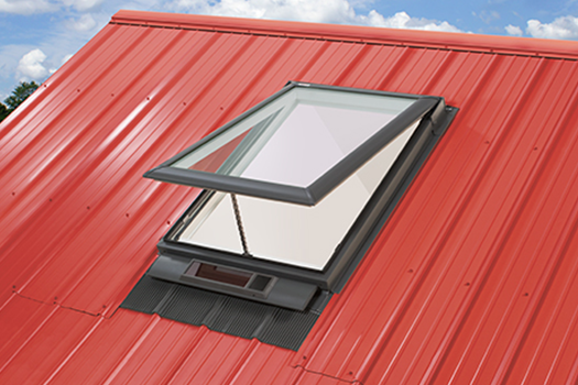 VELUX Solar Skylight Open